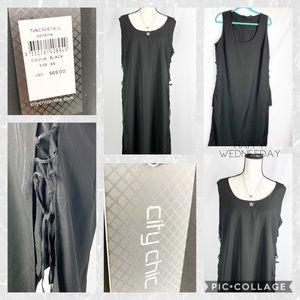 NWT City Chic Long Line Tunic Dress
